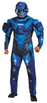 Men's Blue Spartan Muscle Costume - Halo - Adult 2X (50 - 52)