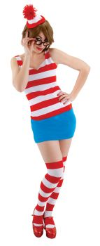 Women's Where's Waldo Dress - Adult S/M (6 - 8)