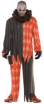 Men's Evil Clown Costume - Adult OSFM