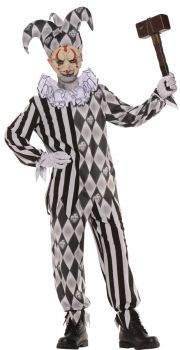 Child's Evil Harlequin Costume - Child M (6 - 8)