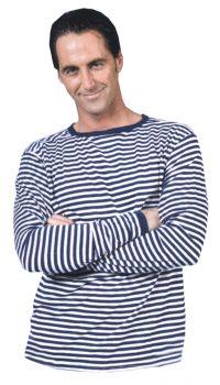 Clown Shirt Blue White Adult - Adult L (46 - 48)