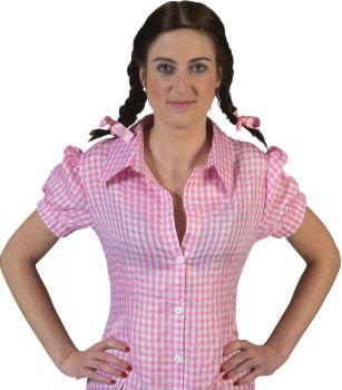 Women's Checkered Body Shirt - Adult S (6 - 8)