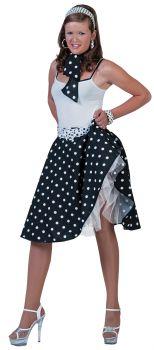 Sock Hop Skirt Scarf - White - Adult OSFM