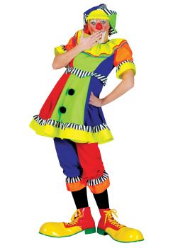 Women's Spanky Stripes Clown Costume - Adult M (10 - 12)