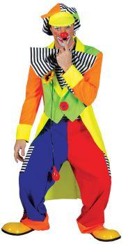 Spanky Stripes Clown Adult Costume - Adult M (42 - 44)