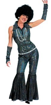 Women's Boogie Queen Costume - Adult S (6 - 8)