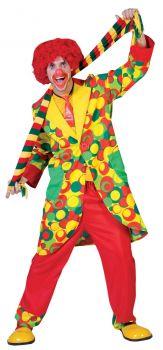Bubbles Clown Costume - Adult S (38 - 40)