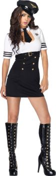 Women's First Class Captain Costume - Adult Large