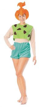 Women's Pebbles Costume - The Flintstones - Adult OSFM