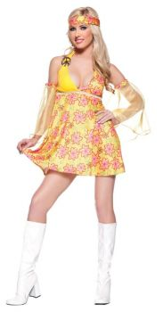 Flower Child Costume Adult Med