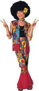 Girl's Flower Power Costume - Child Medium