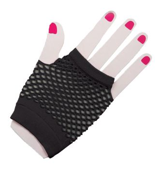Gloves Fingerless Fishnet - Black