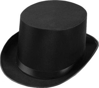 Top Hat Satin Adult - Black