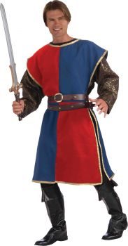 Medieval Tabard Adult - Blue/Red