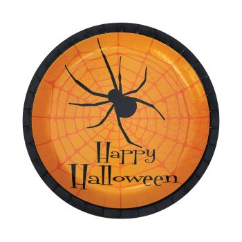 """Halloween Party Plates - Pack Of 8 - 7"""""""
