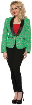 Candy Cane Blazer Adult - Adult S (4 - 6)