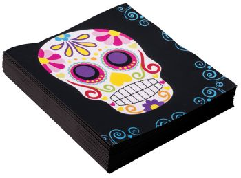 Day Of The Dead Napkins - Pack Of 16 - 13""