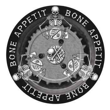 """Bone Appetit Party Plates - Pack Of 8 - 9"""""""
