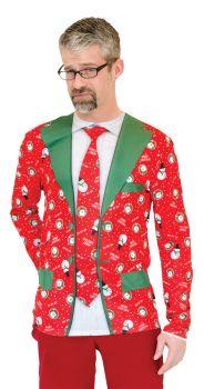 Men's Ugly Christmas Suit Tie - Adult L (42 - 44)