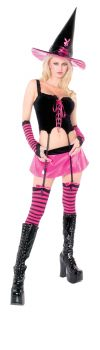Women's Playboy Hipster Witch Costume - Adult M (10 - 12)