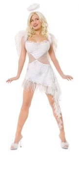 Women's Playboy Hefs Angel Costume - Adult M (10 - 12)