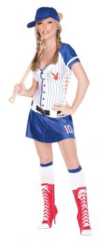 Women's Playboy Homerun Hottie Costume - Adult M (10 - 12)