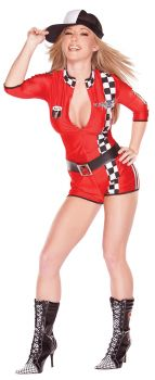 Women's Playboy Racy Racer Costume - Adult M (10 - 12)