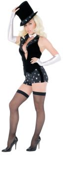 Women's Playboy Magician Costume - Adult S (6 - 8)