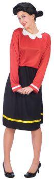 Women's Olive Oyl Costume - Popeye - Adult S/M (2 - 8)