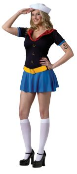 Women's Sexy Popeye Costume - Adult S/M (2 - 8)