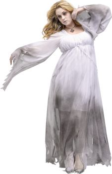 Women's Gothic Ghost Costume - Adult 2X (22 - 24W)
