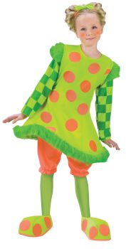 Lolli The Clown Costume - Child M (8 - 10)