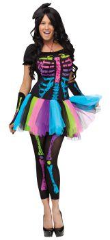 Women's Funky Punk Bones Costume - Adult S/M (2 - 8)