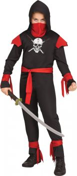 Black Skull Ninja Child Costume - Child L (12 - 14)
