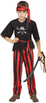 Jolly Roger Pirate - Child M (8 - 10)