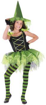 Ballerina Witch Green - Child M (8 - 10)