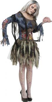 Women's Zombie Costume - Adult S/M (2 - 8)