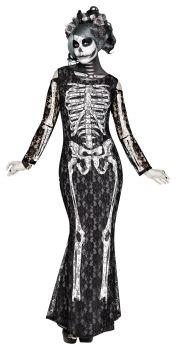Women's Lacy Bones Costume - Adult S (4 - 6)