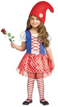 Lil Miss Gnome Toddler Costume - Toddler (24M - 2T)