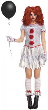 Women's Carnevil Clown Costume - Adult S (4 - 6)