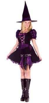 Women's Witch Purple Punk Costume - Adult M/L (10 - 14)