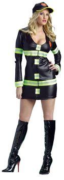 Women's Hot Fire Lady Costume - Adult M/L (10 - 14)