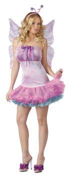 Women's Fluttery Butterfly Costume - Adult M/L (10 - 14)