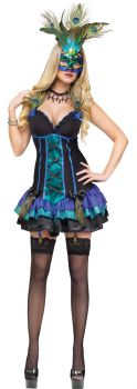 Women's Midnight Peacock Costume - Adult XS (2 - 4)