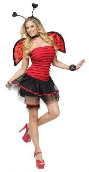 Women's Ladybug Costume - Adult S/M (2 - 8)