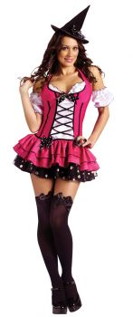 Women's Sugar 'N Spice Witch Costume - Adult S/M (2 - 8)