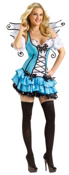 Women's Turquoise Fairy Costume - Adult M/L (10 - 14)