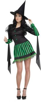 Women's Wicked Witch Costume - Wizard Of Oz - Adult S/M (2 - 8)