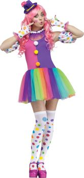 Women's Clownin Around Costume - Adult M/L (10 - 14)