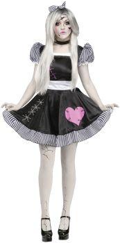 Women's Broken Doll Costume - Adult M/L (10 - 14)